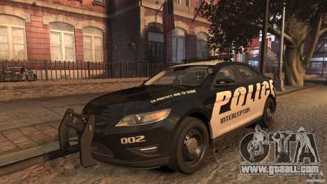 Ford Taurus Police Interceptor 2010 ELS for GTA 4
