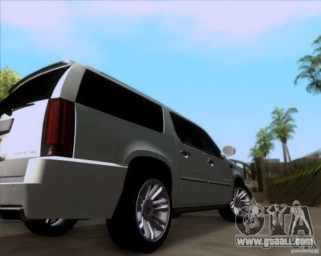 Cadillac Escalade ESV Platinum 2013 for GTA San Andreas back view