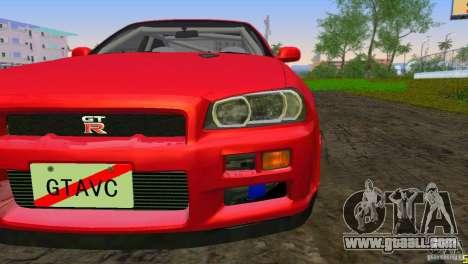 Nissan Skyline GTR R34 for GTA Vice City left view