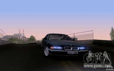 BMW 730i E38 for GTA San Andreas bottom view