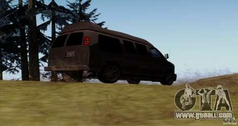GMC Savana AWD for GTA San Andreas right view