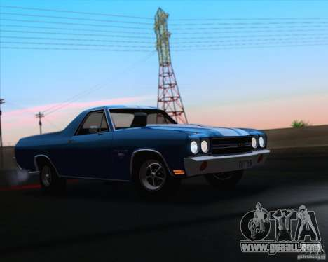 Chevrolet EL Camino SS 70 for GTA San Andreas upper view