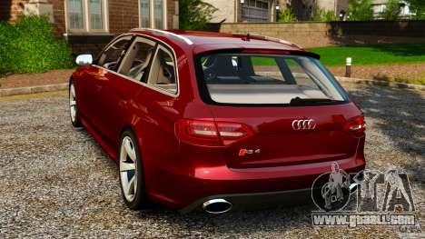Audi RS4 Avant 2013 for GTA 4 back left view