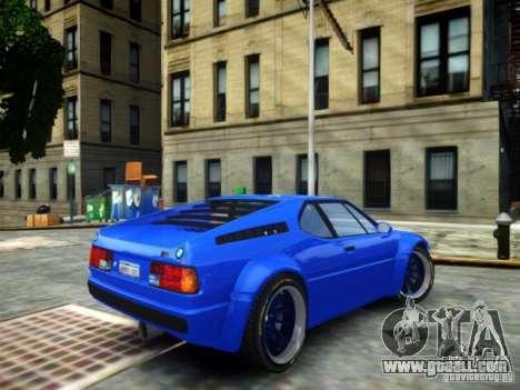 BMW M1 Replica for GTA 4 left view