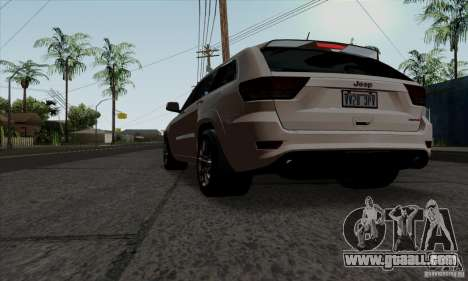 Jeep Grand Cherokee SRT-8 2013 for GTA San Andreas left view
