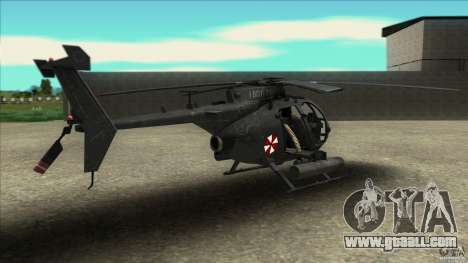 The helicopter from resident evil for GTA San Andreas left view