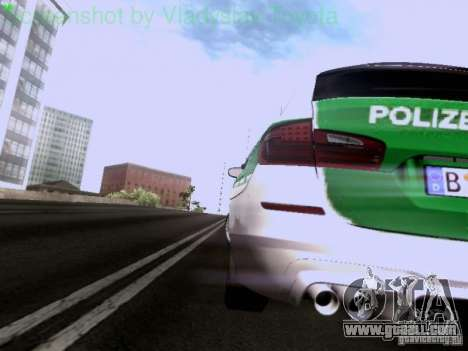 BMW M5 Touring Polizei for GTA San Andreas side view