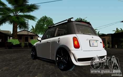 Mini Cooper S Tuned for GTA San Andreas back view