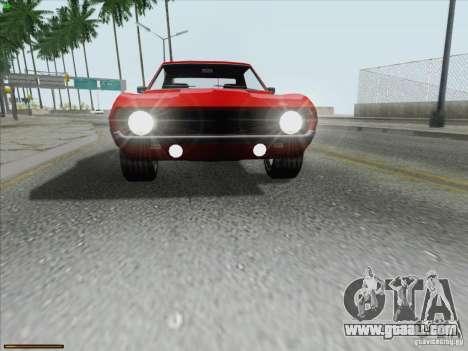 Chevrolet Camaro 1969 for GTA San Andreas interior