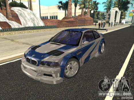 BMW M3 GTR of NFS Most Wanted for GTA San Andreas inner view