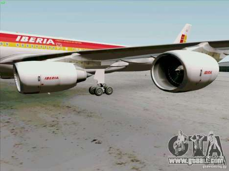 Airbus A-340-600 Iberia for GTA San Andreas back view