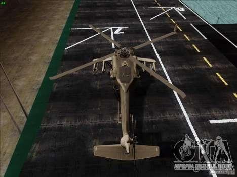 S-70 Battlehawk for GTA San Andreas back left view