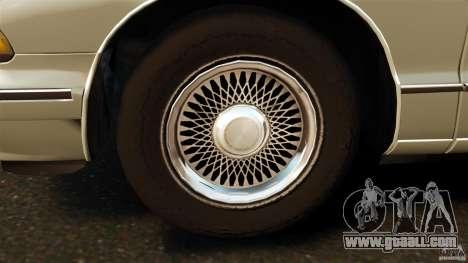 Chevrolet Caprice 1991 for GTA 4 inner view