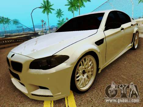 BMW M5 F10 HAMANN for GTA San Andreas left view