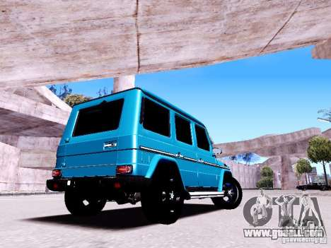 Mercedes-Benz G65 2012 for GTA San Andreas back left view