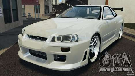 Nissan Skyline GT-R R34 for GTA 4