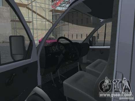 Gazelle 2705 Gruzopasažirskaâ for GTA San Andreas inner view