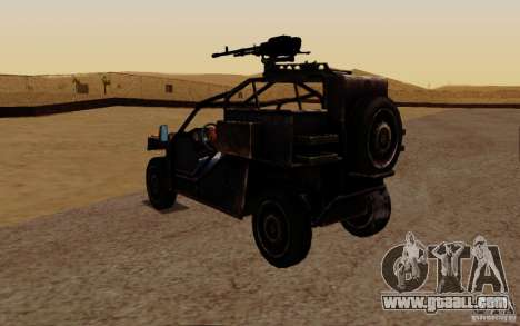 VDV Buggy from Battlefield 3 for GTA San Andreas back left view