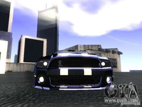 Ford Mustang Shelby GT500 for GTA San Andreas right view