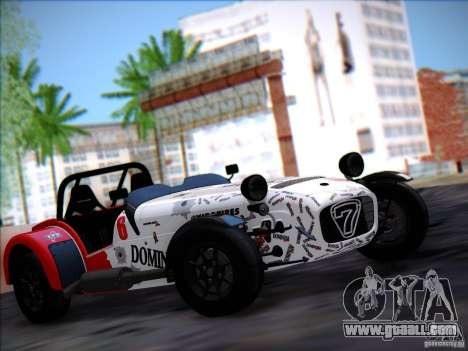Caterham Superlight R500 for GTA San Andreas back left view