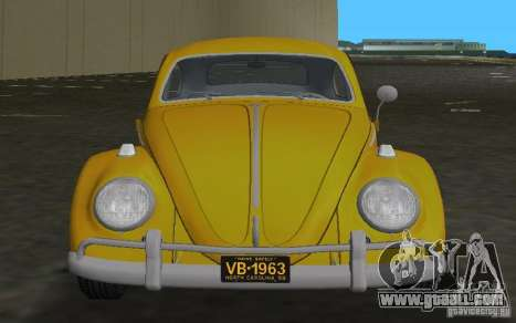 Volkswagen Beetle 1963 for GTA Vice City back view