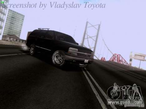 Chevrolet Tahoe 2003 SWAT for GTA San Andreas left view