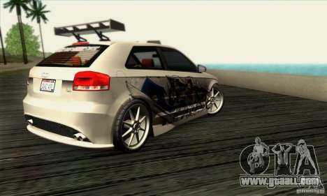 Audi A3 Tunable for GTA San Andreas right view