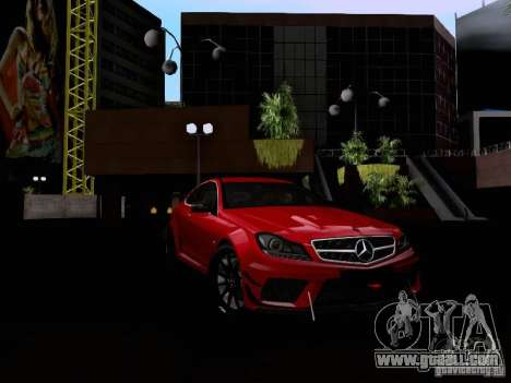 Mercedes-Benz C63 AMG 2012 Black Series for GTA San Andreas inner view