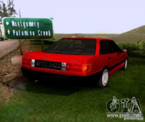 Audi 80 B3 for GTA San Andreas back left view