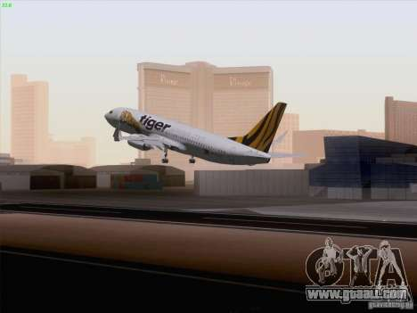 Boeing 737-800 Tiger Airways for GTA San Andreas left view