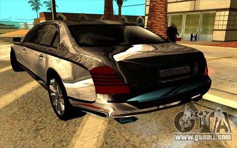 Maybach 62 for GTA San Andreas upper view