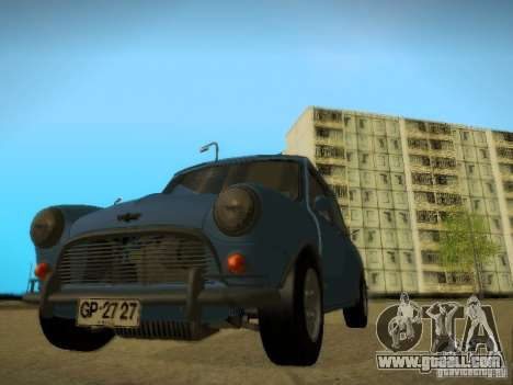 Mini Cooper 1965 for GTA San Andreas back view