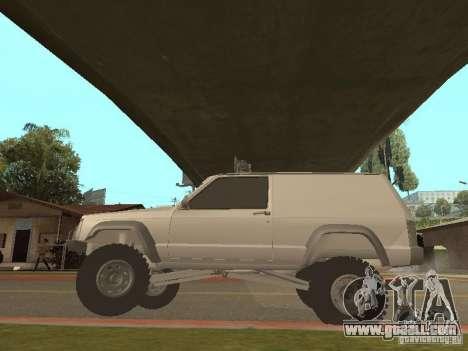 Jeep Cherokee 1984 v.2 for GTA San Andreas back view