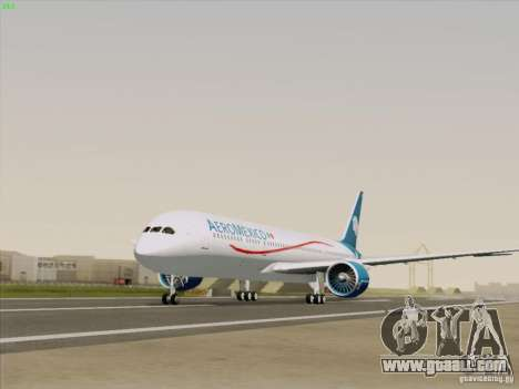 Boeing 787-8 Dreamliner AeroMexico for GTA San Andreas right view