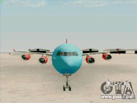 Airbus A-340-600 Plummet for GTA San Andreas back view