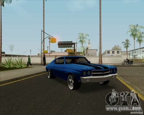 Chevrolet Chevelle SS for GTA San Andreas inner view