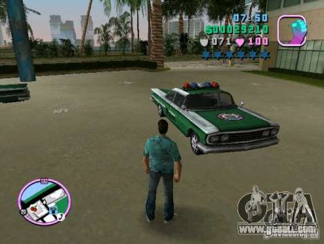 Voodoo Police for GTA Vice City back left view