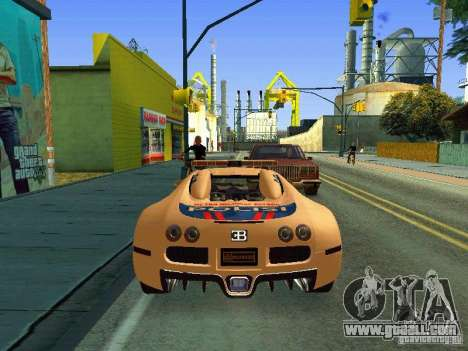 Bugatti Veyron Indonesian Police for GTA San Andreas right view