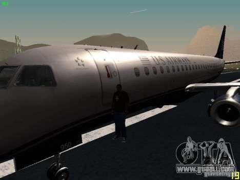 Embraer ERJ 190 USAirways for GTA San Andreas side view