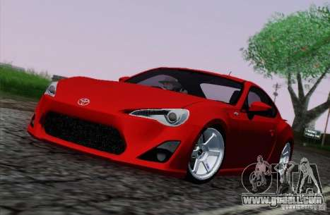Toyota GT86 for GTA San Andreas side view