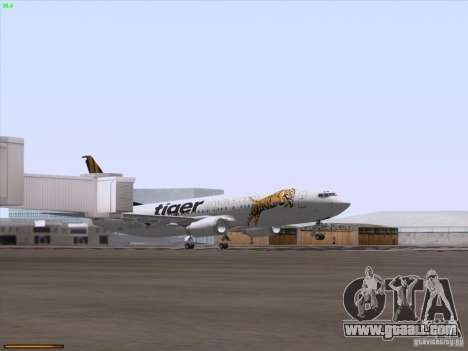 Boeing 737-800 Tiger Airways for GTA San Andreas upper view
