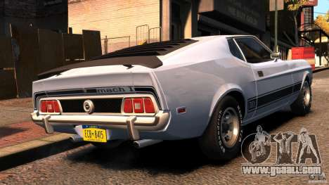 Ford Mustang Mach 1 1973 v2 for GTA 4 back left view