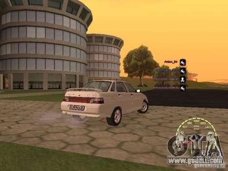 Speedometer Lada Priora for GTA San Andreas fifth screenshot