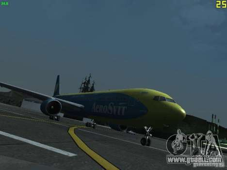 Boeing 767-300 AeroSvit Ukrainian Airlines for GTA San Andreas left view