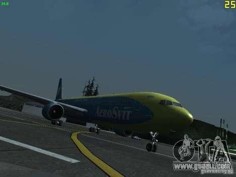 Boeing 767-300 AeroSvit Ukrainian Airlines for GTA San Andreas left view