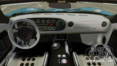 Ford GTX1 2006 for GTA 4 inner view
