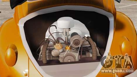 Volkswagen Fusca Edit for GTA 4 back view