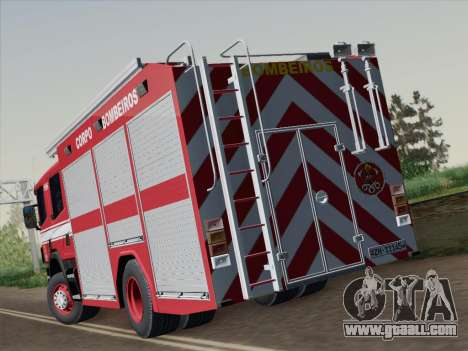 Scania 94D-260 Corpo Bombeiros SP for GTA San Andreas back left view