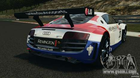 Audi R8 LMS for GTA 4 back left view