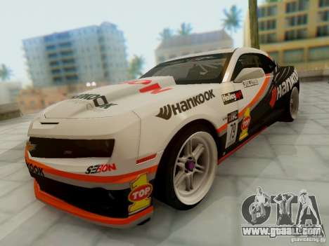 Chevrolet Camaro Hankook Tire for GTA San Andreas back view